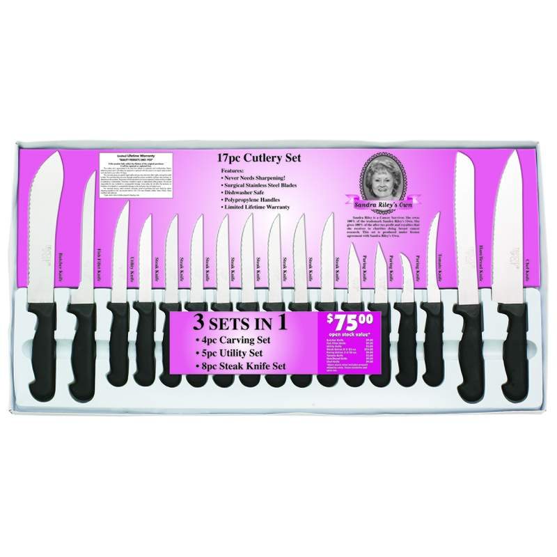 Sandra Riley's Own 17pc Cutlery Sets (CTDC17)