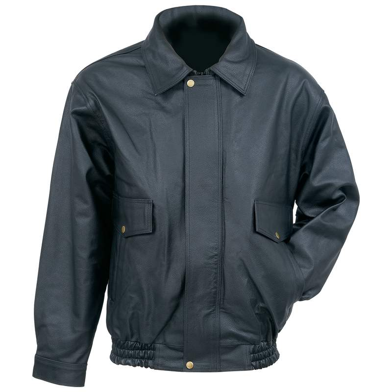 Solid Genuine Cowhide Leather Bomber Jacket s (GFBOMB)