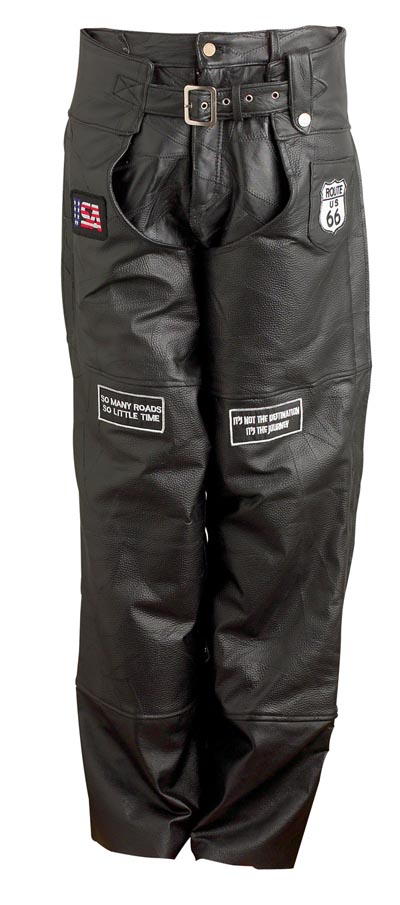 Leather Motorcycle Chaps (GFCHAPPAT)