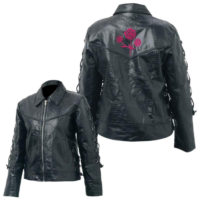 Ladies Buffalo Leather Jacket (GFROSE)