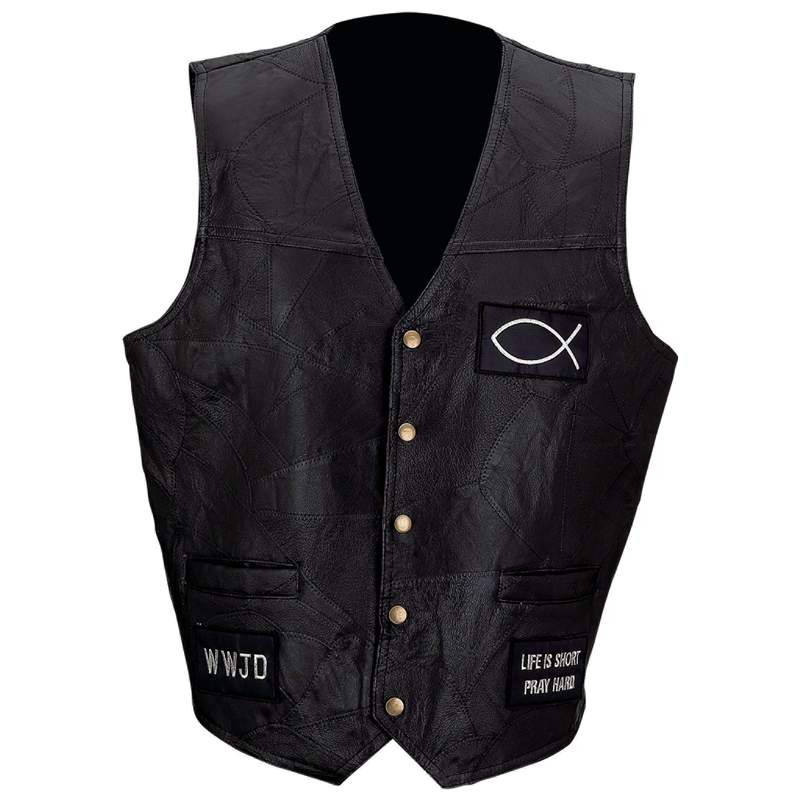Christian Leather Vests (GFVFISH)
