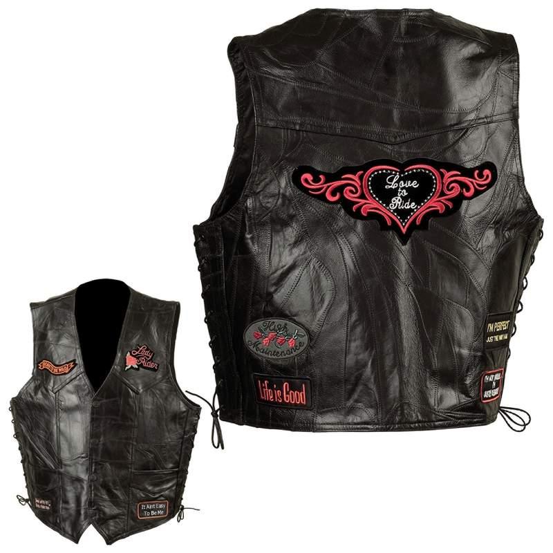 Ladies' Leather Vests (GFVLADY)