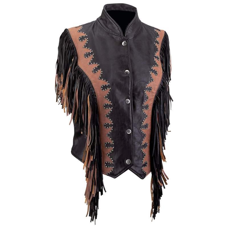 Leather Ladies' Vests (GFVLBF)