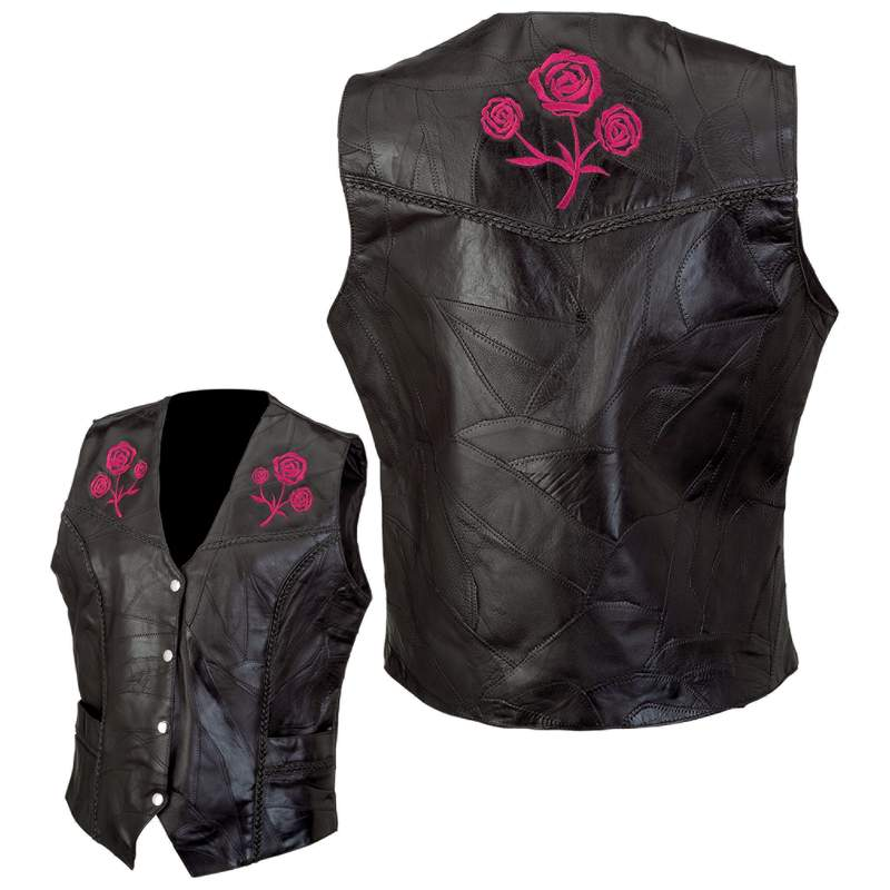 Ladies' Leather Vests (GFVROSE)