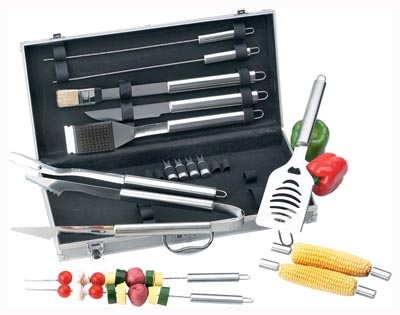 Chefmaster 18pc All Stainless Barbeque Sets (KTBQSS18)