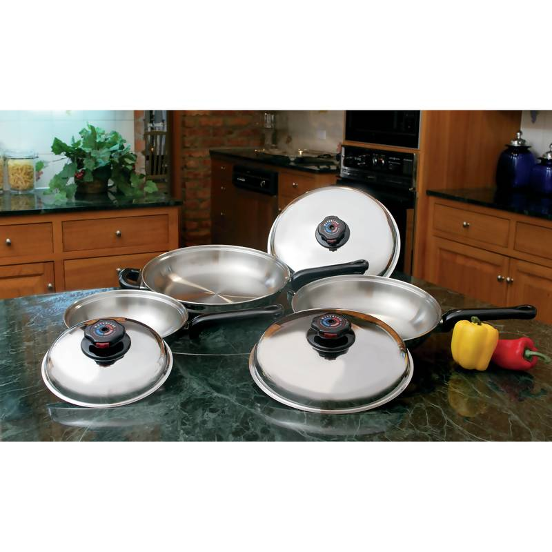 Precise Heat 6pc Stainless Steel Skillet Sets (KTFP3)