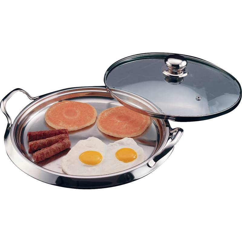 Chef's Secret 5-Ply Stainless Steel Round Griddles (KTGRID2)