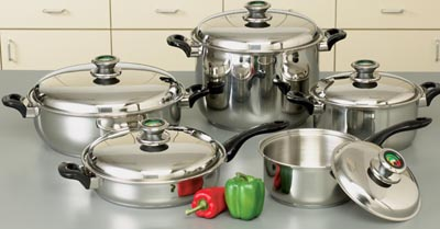 HealthSmart 10pc 12-Element Cookware Sets (KTWC10)