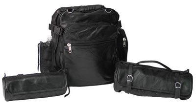 3pc Leather Motorcycle Bag Sets (LUMCBP)