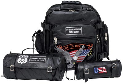 3pc Leather Motorcycle Bag Sets (LUMCBP2)