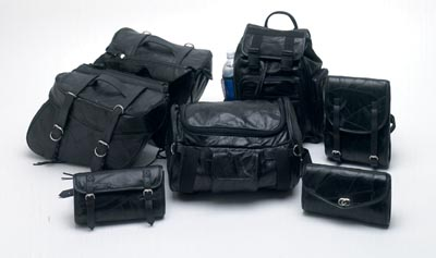 7pc Leather Motorcycle Luggage Sets (LUMSET)