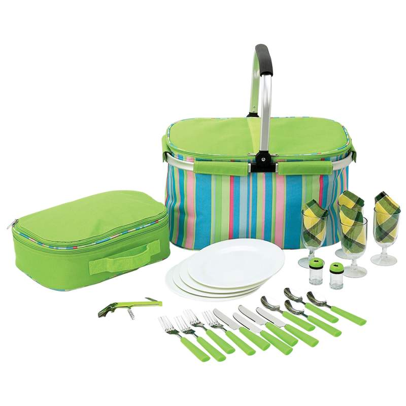 Maxam® 29pc Picnic Sets in Cooler Bag (LUPIC29)