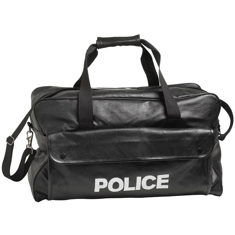 Black Leather Duffle Bags (LUPOLICE)