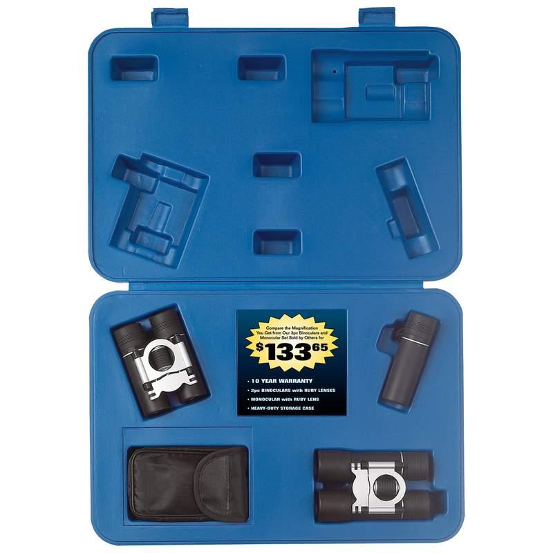 Magnacraft® 3pc Binocular Sets (SPBSET3)