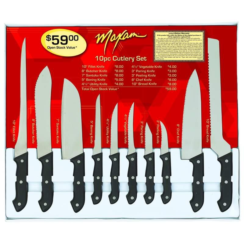Maxam® 10pc Cutlery Sets (CTMAX10)