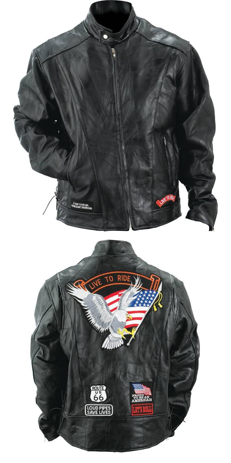 Buffalo Leather Motorcycle Jackets (GFCRLTR)