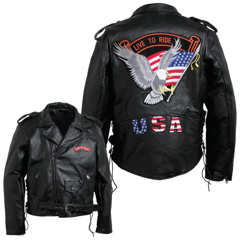 Mens Leather Motorcycle Jackets (GFMOTLTR)
