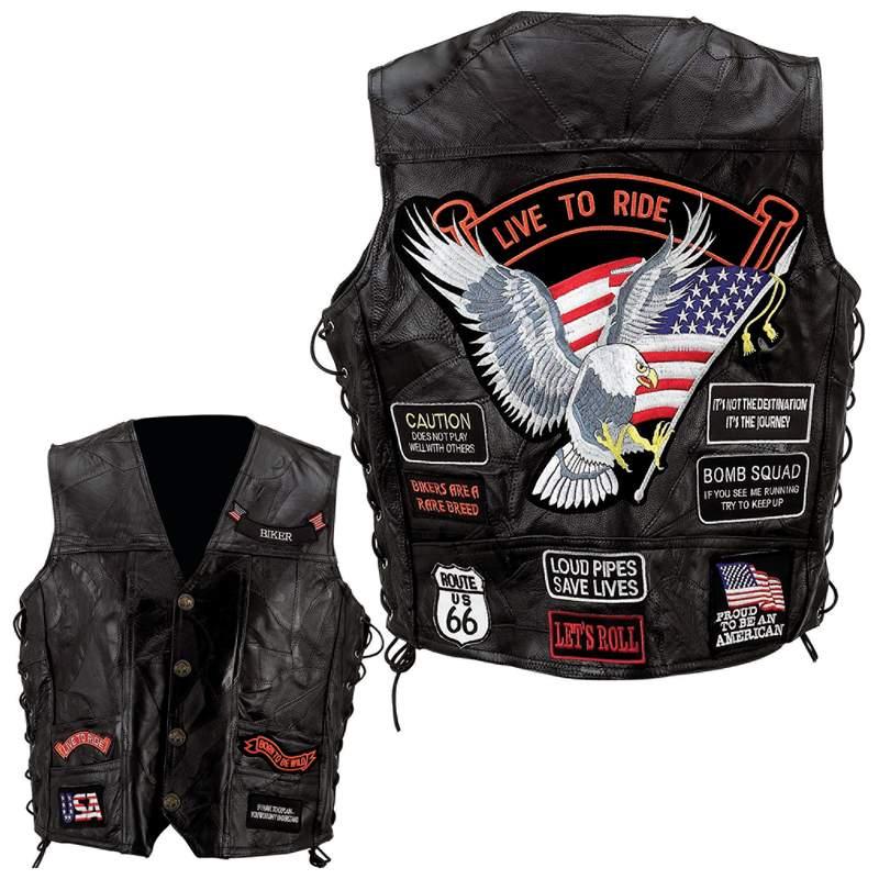 Buffalo Leather Vests (GFVBIK14)