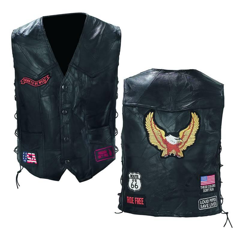 Leather Biker Vests (GFVBIKE)