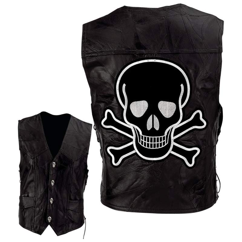 Leather Motorcycle Vests (GFVSCB)