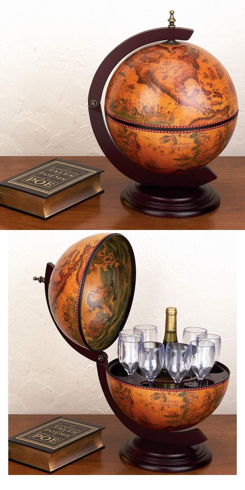 "13"" Diameter Replica Globe Bar (HHGLB3303)"