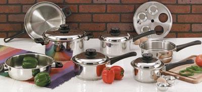 Maxam 17pc Steam Control Waterless Cookware Sets (KT17)