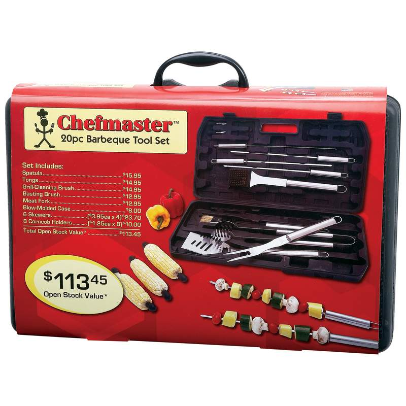 Chefmaster™ 20pc Stainless Steel BBQ Tool Sets (KTBQ20)