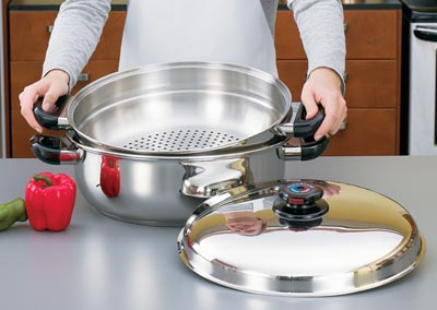 Precise Heat Stainless Steel Cookware Oversized Skillets (KTGIANT2)