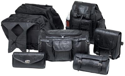 7pc Leather Motorcycle Luggage Sets (LUMSET2)