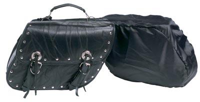 Buffalo Leather Motorcycle Saddle Bag Sets (LUMSET3)